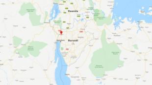 La province de Bubanza où les quatre journalistes et leur chauffeur ont été arrêtés.