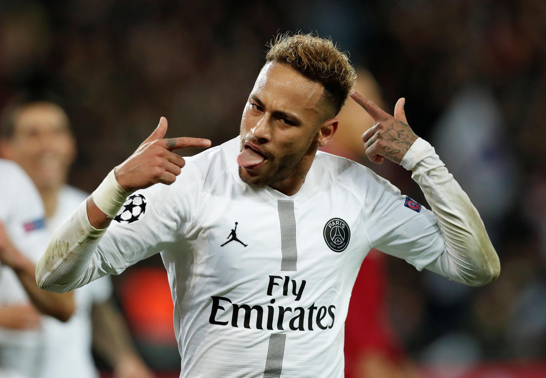 Le Brésilien Neymar, attaquant du PSG, buteur face à Liverpool, ce 28 novembre 2018.
