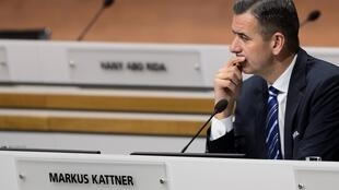 L'ancien directeur financier et ex-secrétaire général adjoint de la Fifa, Markus Kattner, lors d'un congrès extraordinaire de la Fifa, à Zurich, le 26 février 2016