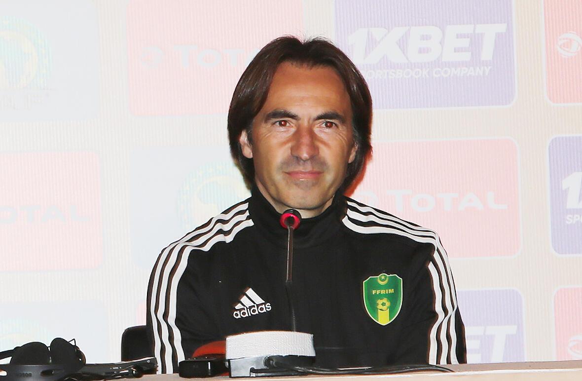 Corentin Martins, sélectionneur de l'équipe de Mauritanie.
