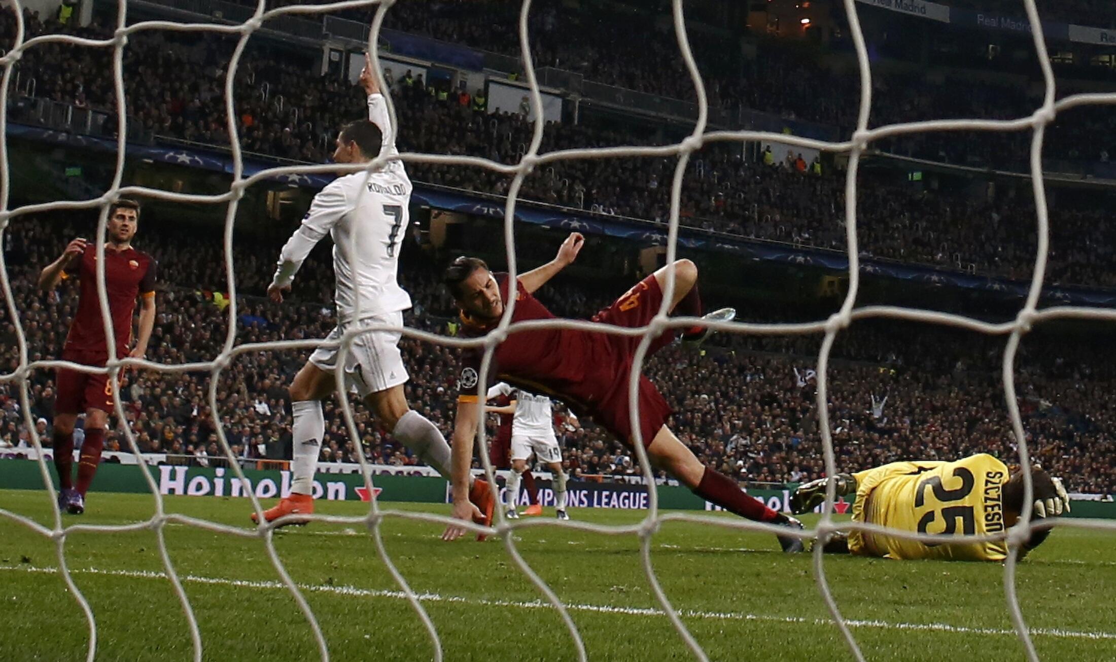 Cristiano Ronaldo da James Rodriguez ne suka jefa wa Madrid kwallayenta a ragar Roma.