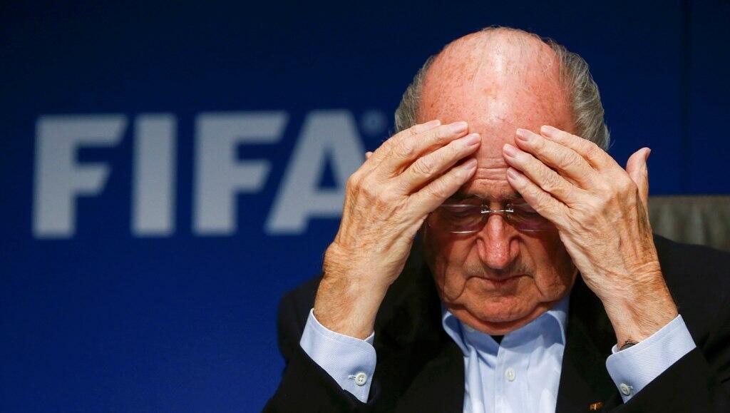 Fifa president Sepp Blatter  attends a news conference  in Zurich 26  September 2014