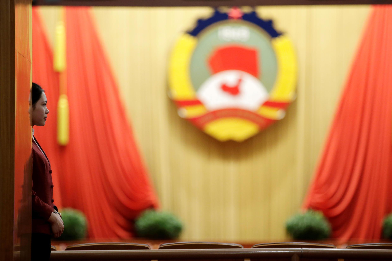 图为中国两会全国政协会议会场资料照片