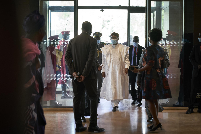 Rais wa Niger na Rais wa sasa wa ECOWAS, Mahamadou Issoufou, anawasili Bamako, Mali, Julai 23, 2020.
