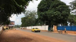 Scène de rue à Bangui, juin 2019.