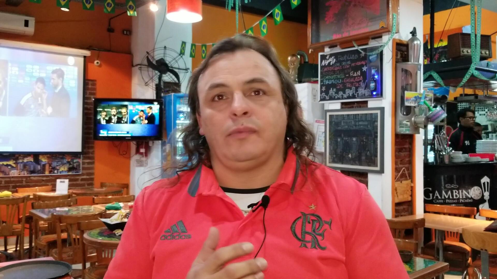 Fabián Barragué, comanda o restaurante Gambino