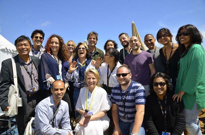 Los participantes del Pabellón de Cines del Mundo 2014.
