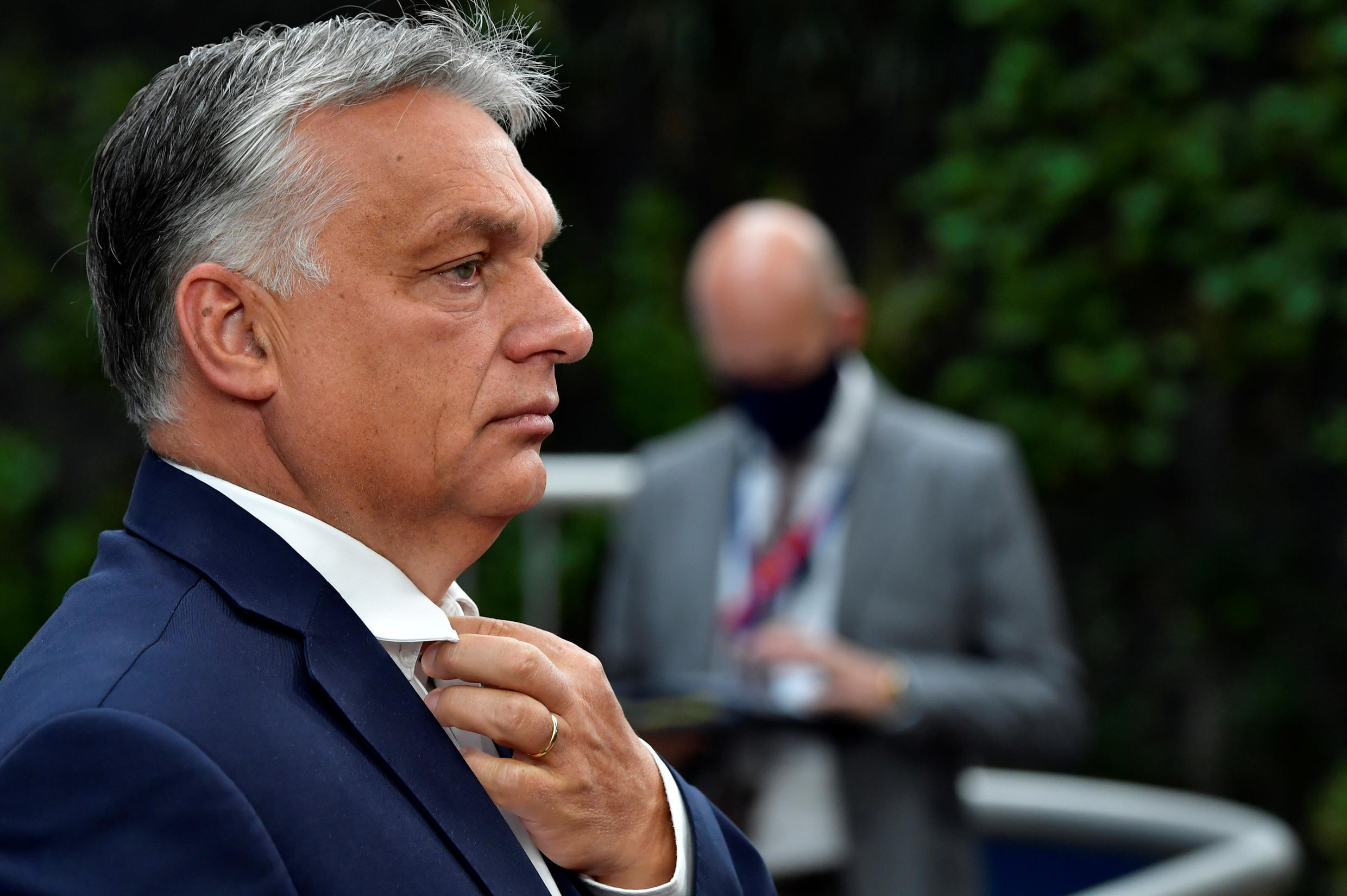 ILE PHOTO: Hungary's Prime Minister Viktor Orban arrives for the first face-to-face EU summit since the coronavirus disease (COVID-19) outbreak, in Brussels, Belgium July 19, 2020.