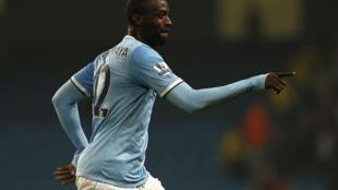 Yaya Touré na  Manchester City.