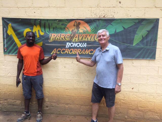 Parc touristique d'accrobranche de Bonoua en Côte d'Ivoire.