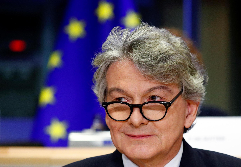 Thierry Breton, le commissaire chargé du marché intérieur, à Bruxelles, le 14 novembre 2019.