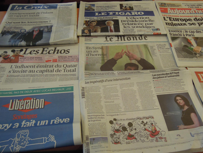 Diários franceses 14/03/2012