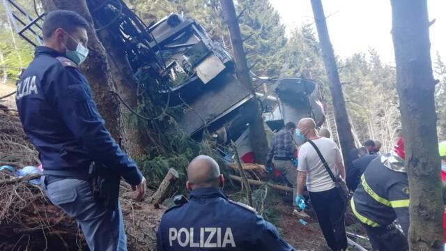 意大利北部缆车事故死亡增至14人(photo:RFI)