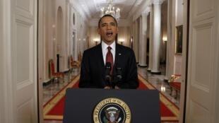 美国总统奥巴马宣布本拉登被击毙