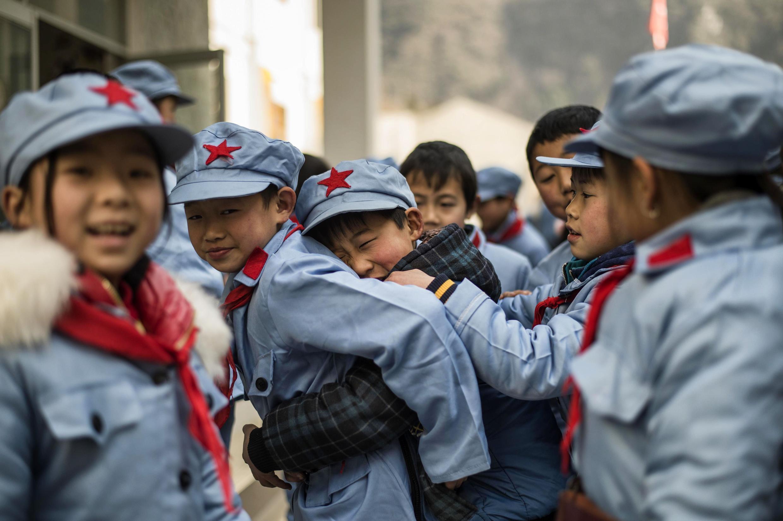 Học sinh tại một trường học của quân đội Trung Quốc ở Bắc Xuyên.
