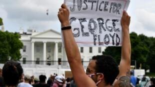 美國總統府白宮前示威 2020年5月29日