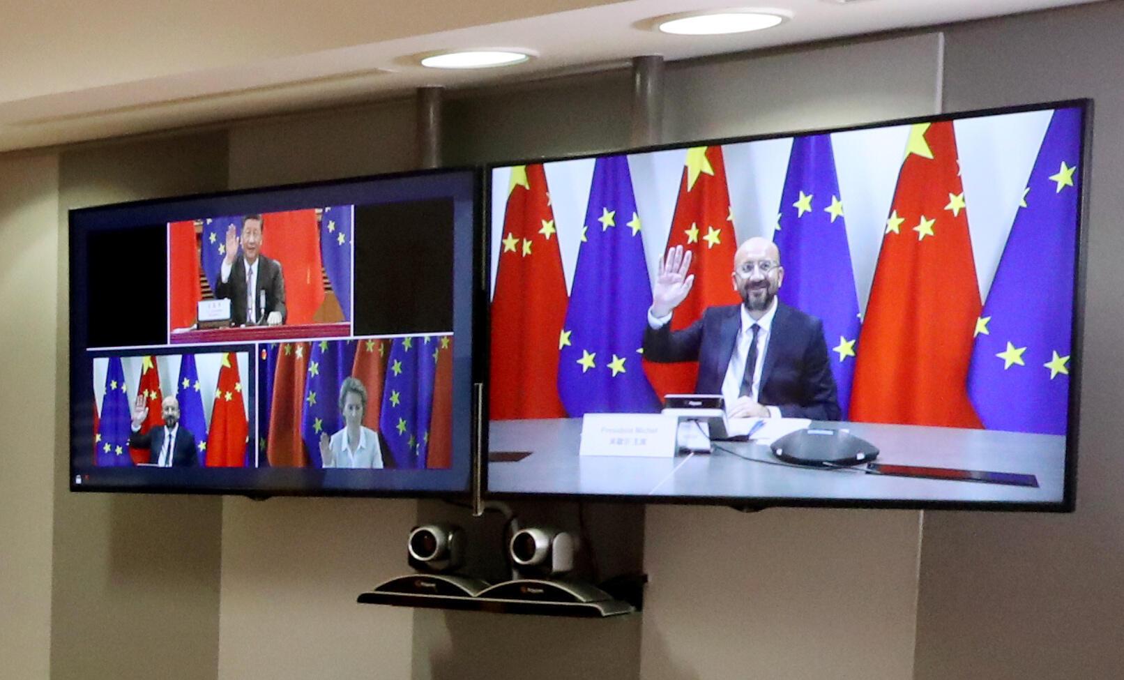 Hình ảnh về Hội Nghị Thượng Đỉnh trực tuyến LIÊN HIỆP CHÂU ÂU-TRUNG QUỐC tại Bruxelles ngày 22/06/2020.