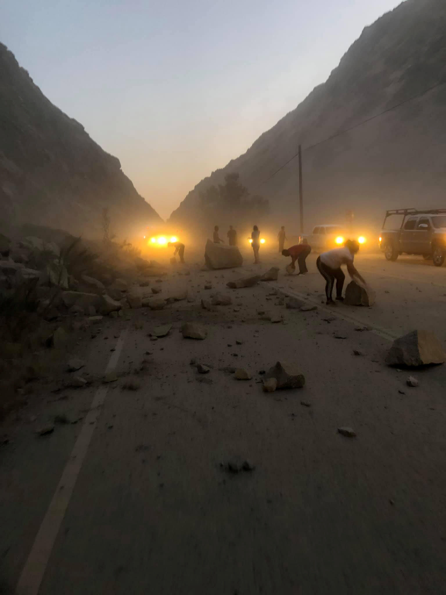 Aftermath of a rockslide caused by the earthquake in Kern County, California, U.S., July 5, 2019