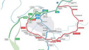 Le tracé du futur super métro francilien.