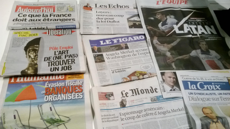 Diários franceses  24/10/2013