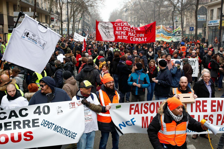 法國反退休改革大罷工進入第25天