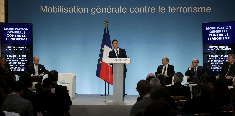 Conférence de presse du mercredi 21 janvier 2015 au palais de l'Elysée, à Paris.