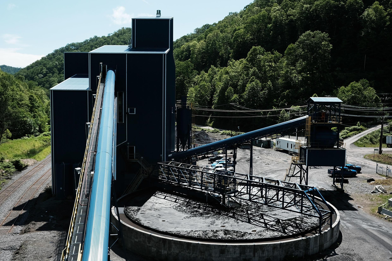 Mina de extração de carvão no estado de Virginia, nos Estados Unidos