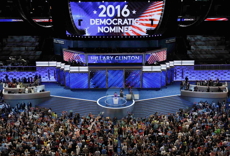 La convención demócrata en Filadelfia, este 26 de julio de 2016.