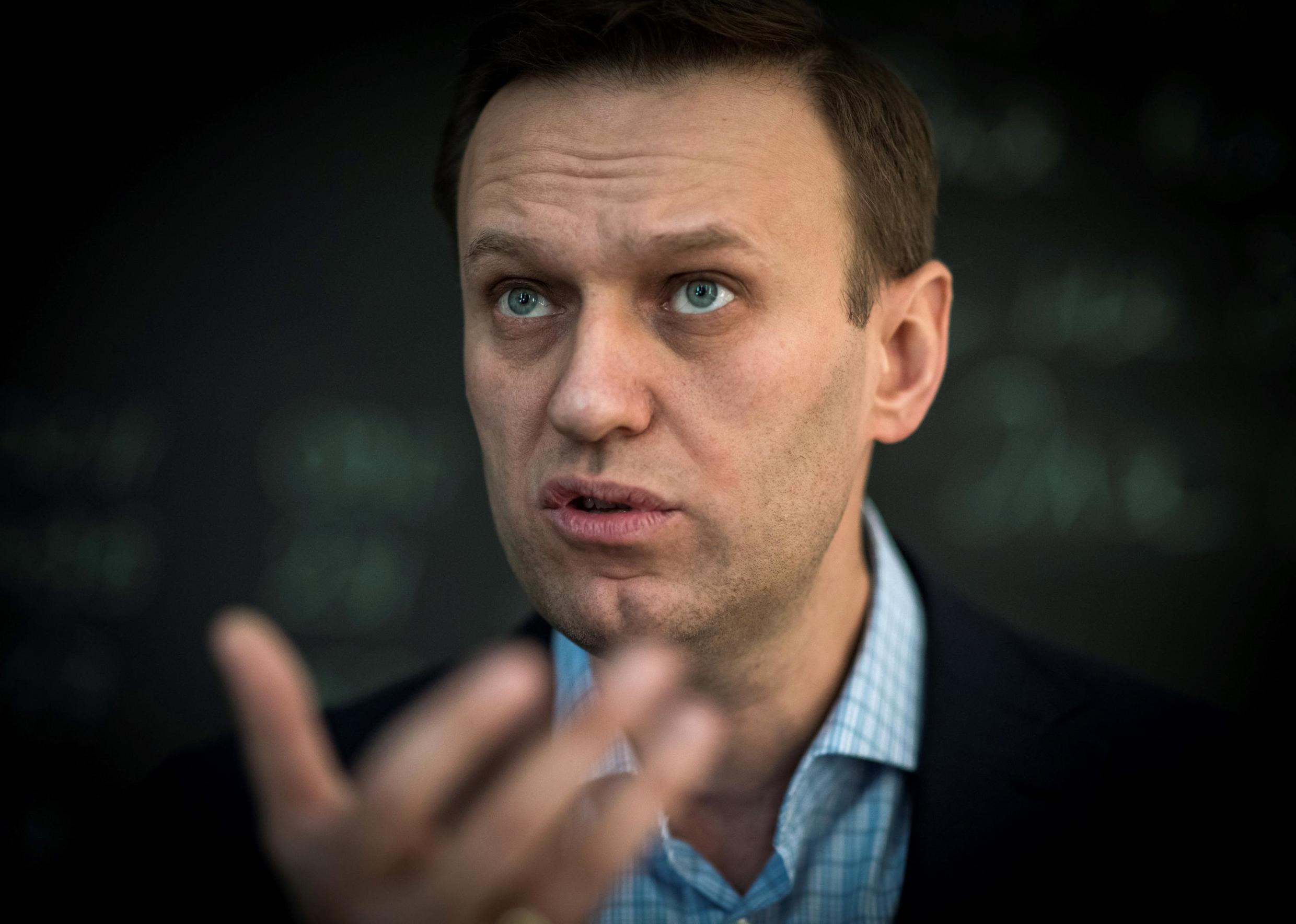 Alexeï Navalny, the Russian opposition leader currently being treated in Berlin for suspected poisoning after becoming ill on a flight last Thursday.