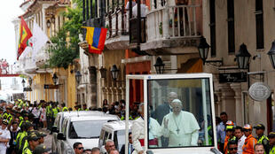 Papa Francisco em Cartagena, última etapa de sua viagem à Colômbia.