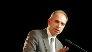 Jean-François Copé, le président de l'UMP, le 5 mars dernier lors d'un meeting à Strasbourg.