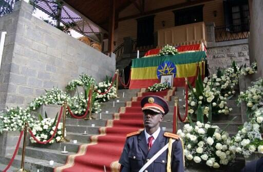 Inda aka ajiye gawar tsohon Firaministan Habasha, Meles Zenaw a lokacin jana'izarsa