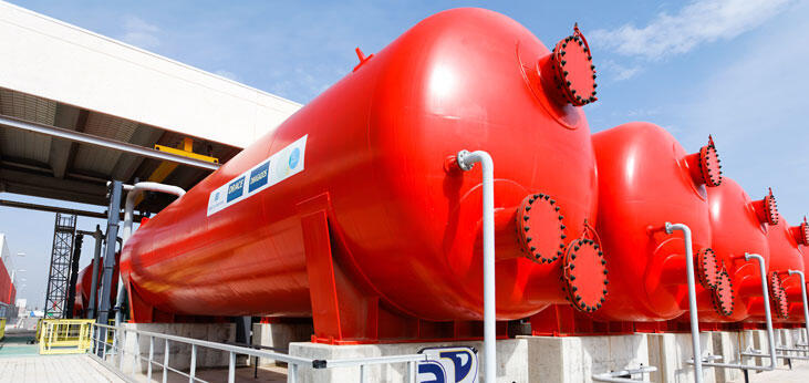 Usine de dessalement.