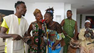 Le BIM, Bénin International Musical pendant la fusion avec Hassan Boussou (pas à l'image).