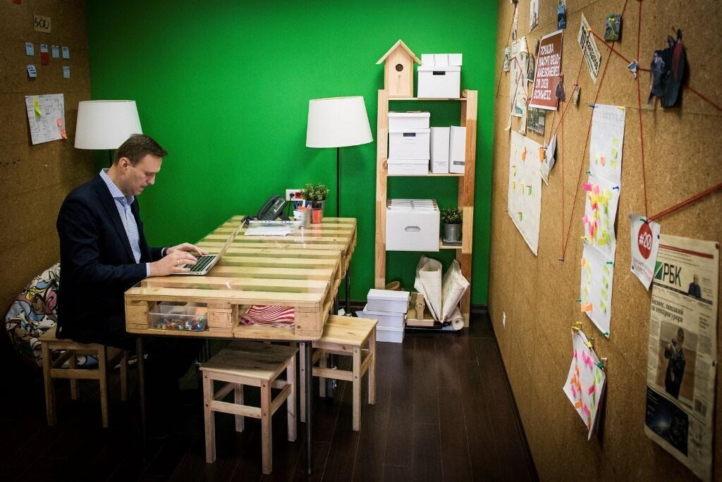 Алексей Навальный в офисе ФБК, 2019