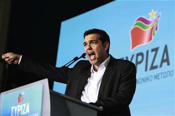 Alexis Tsipras kiongozi wa chama cha mrengo wa kushoto nchini Ugiriki