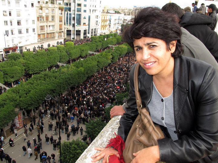 Ahlem Belhadj, présidente de l'Association tunisienne des femmes démocrates