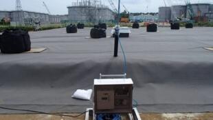 Detetor de vazamento em um dos sete reservatórios subterrâneos. As autoridades japonesas anunciaram hoje que vão transferir com urgência a água radioativa da central nuclear de Fukushima para novos reservatórios.