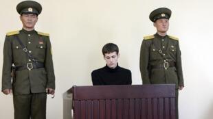 Mathew Miller, ciudadano estadounidense, en el Tribunal Supremo de Pyongyang 14/09/2014.