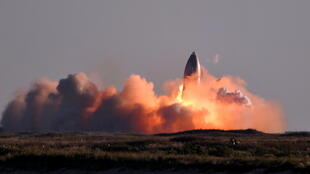 SpaceX's first super heavy-lift Starship SN8 rocket explodes during a return-landing attempt.