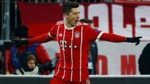 Robert Lewandowski na kungiyar Bayern Munich.