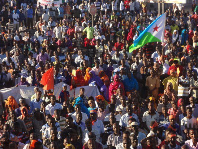Une manifestation de l'opposition djiboutienne.
