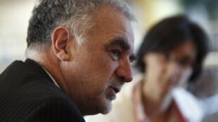Luis Moreno Ocampo a été procureur de la CPI de 2003 à 2012. Lors d'un déplacement en Libye, le 23 novembre 2011.