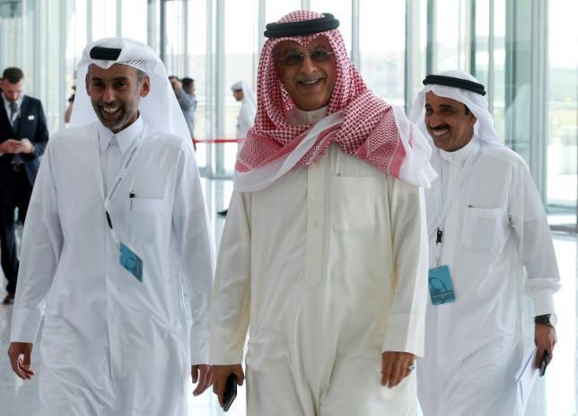 Asian Football Confederation (AFC) head Sheikh Salman bin Ebrahim Al-Khalifa arrives for a meeting with the FIFA task force in Doha February 24, 2015.