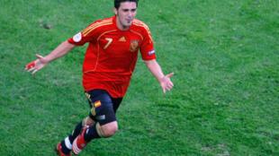 David Villa durante la Eurocopa de 2008.