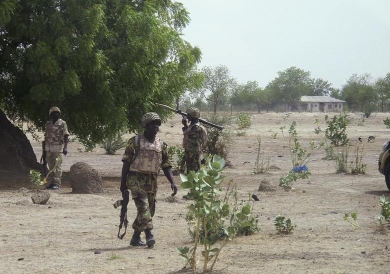 Wanajeshi wa Nigeria wakipiga kambi huko Maiduguri, Kaskazini mwa nchi hiyo