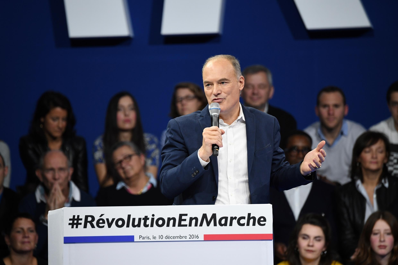 Renaud Dutreil, porte-parole d'Emmanuel Macron, lors d'un meeting du mouvement En Marche ! en décembre 2016.