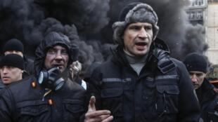 Виталий Кличко обращается к протестующим. Киев 23/01/2014