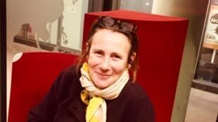 Marie Desplechin en studio à RFI (novembre 2019).