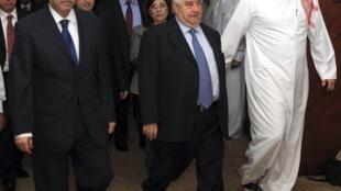 ولید معلم، وزیر امور خارجه سوریه هنگام ترک اجلاس دوحه - دوشنبه 31 اکتبر 2011
